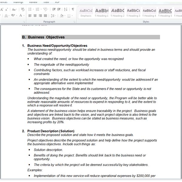 A Project Manageru0027s Guide to Requirements Gathering - business requirements document template