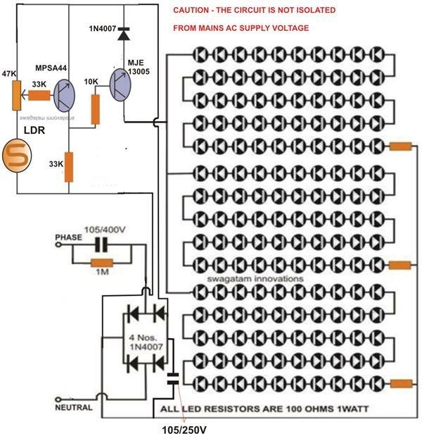 solar led light wiring diagram led street light circuit diagram info