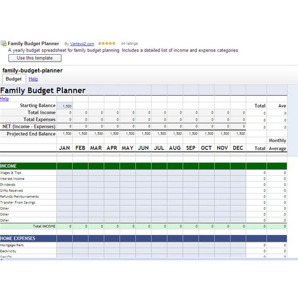 Google Spreadsheets Project Helps You Create a Family Budget - project budget spreadsheet