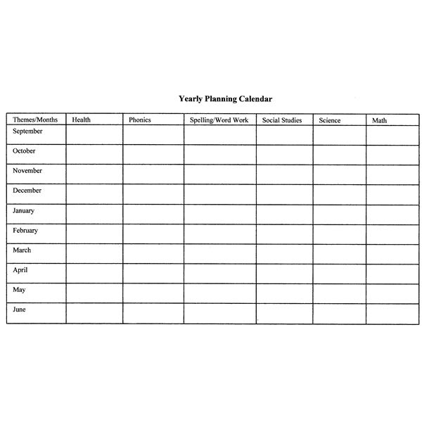 How to Create Monthly and Yearly Plans for the Classroom Includes a - exam study schedule template