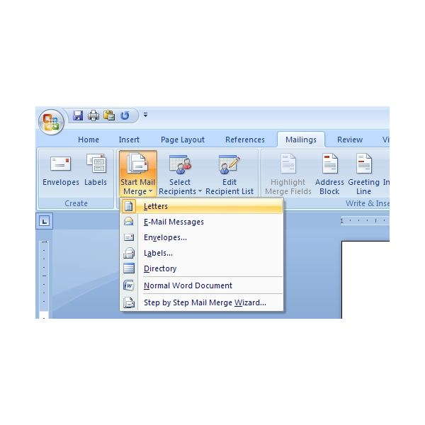 How to Use the Mail Merge Feature in Microsoft Word 2007