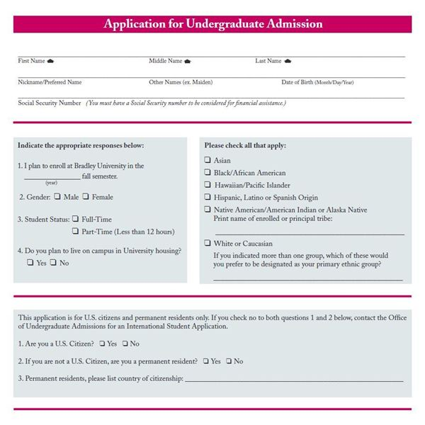 Basic Information on College Applications