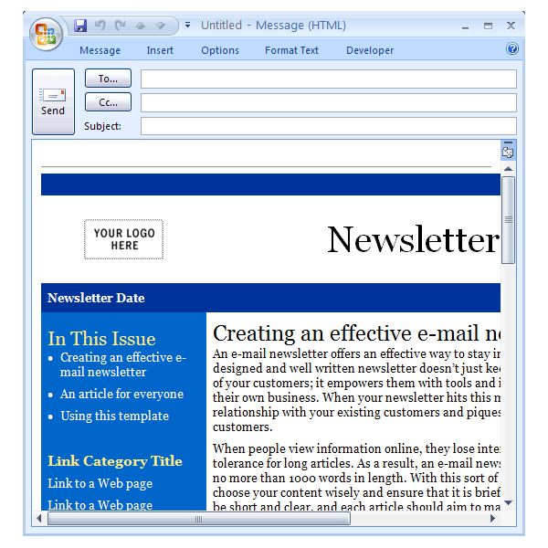 Office Newsletter Template  MayotteOccasionsCo