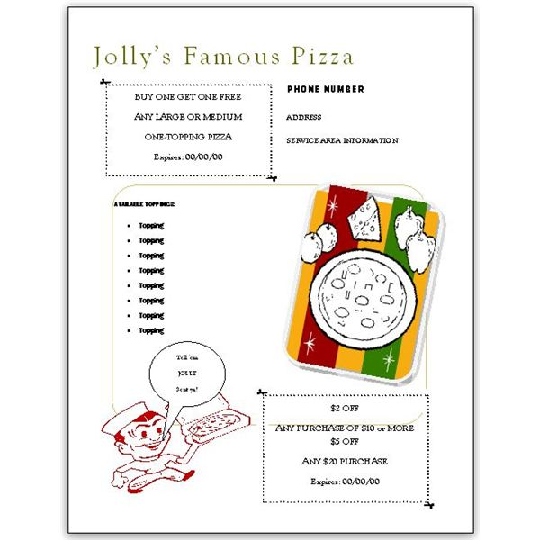 Need Free Pizza Menu Templates? Download Them Here to Use in MS