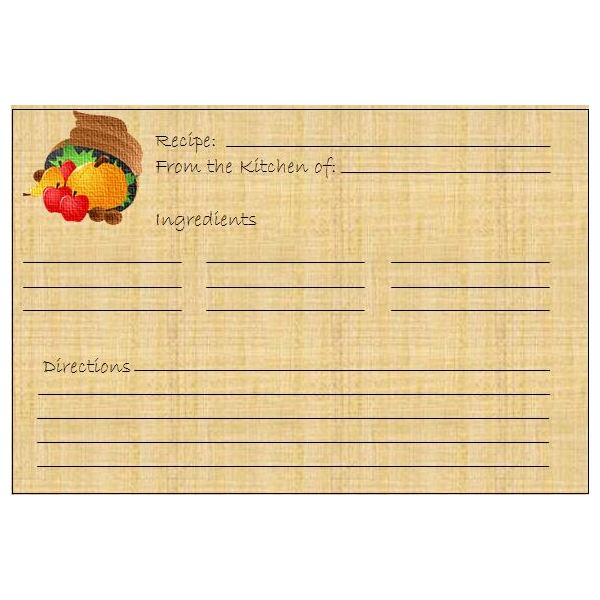 5 Thanksgiving or Harvest-Themed Printables Greeting Card, Banner