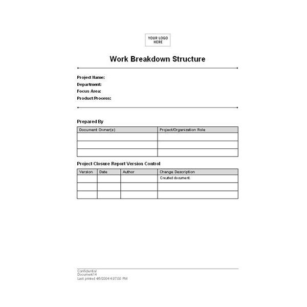 Where to Find the Best Work Breakdown Structure Templates - work breakdown structure template