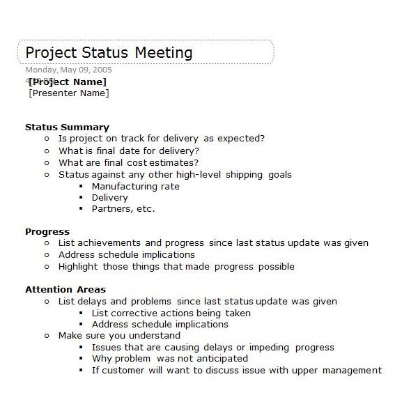 Sample Meeting Summary Template Meeting Notes Template With - sample meeting summary template