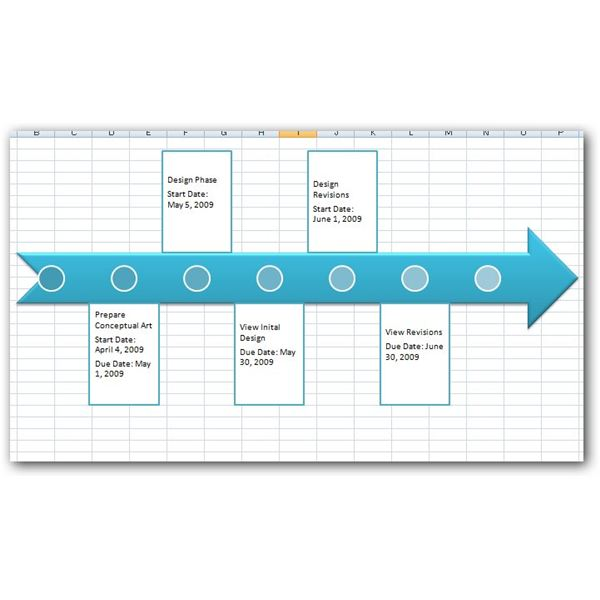 Timeline Sample In Excel Project Tracker Excel Template Excel