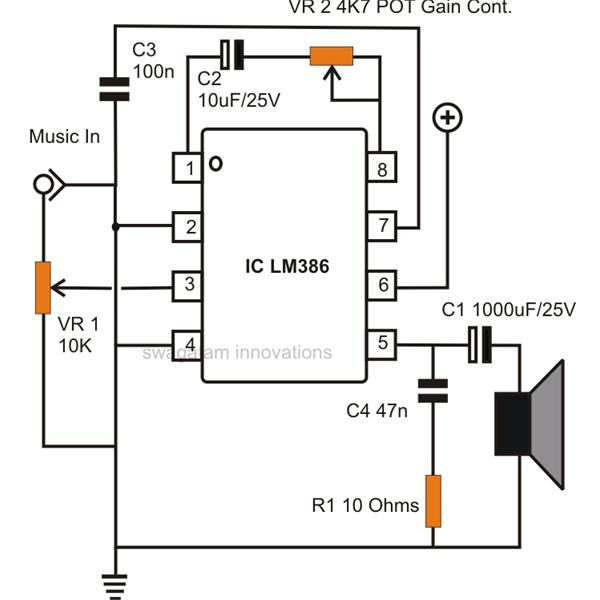 How to Build Small, Simple Audio Amplifiers Using IC LM386