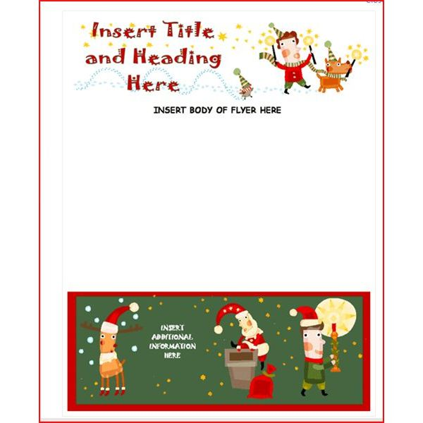 christmas program templates microsoft word - Ozilalmanoof - free printable christmas flyers templates