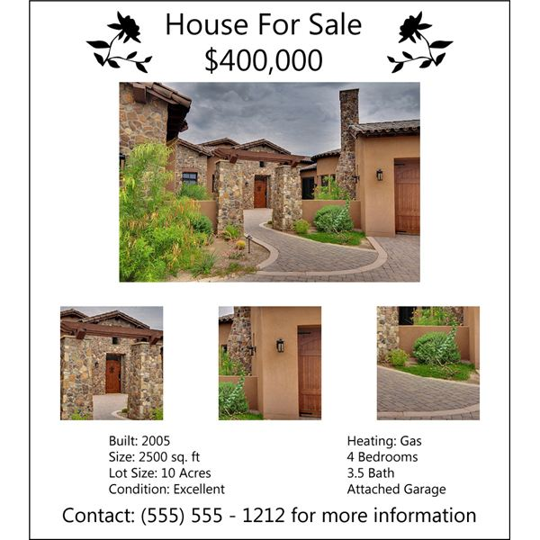 SOLD! Tips for Designing a Real Estate Flyer - land for sale flyer