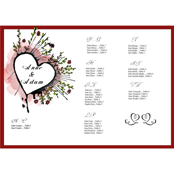 Tips on Creating a Wedding Seating Chart Free Sample Template for - price chart templates