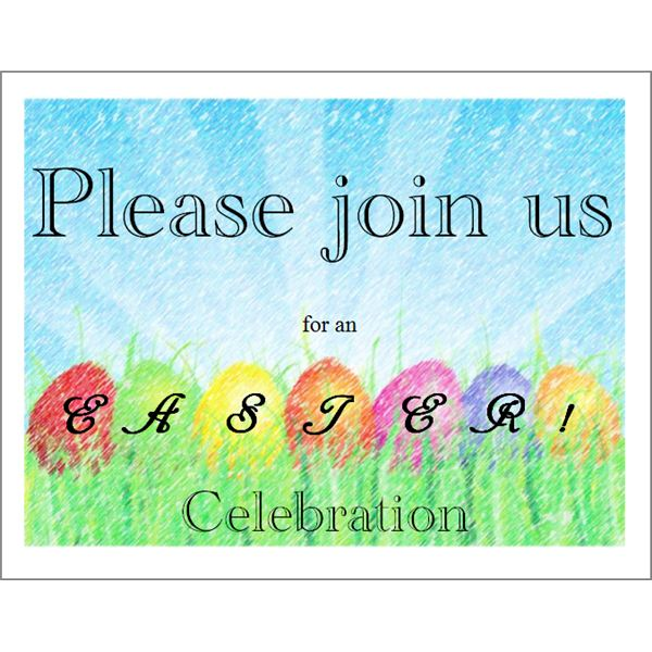 Free Printable Invitations 5 Templates for Microsoft Publisher - free printable religious easter cards