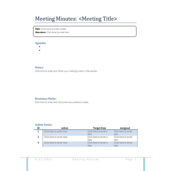 Meeting Minutes Sample - How to Write Useful Meeting Minutes - best minutes of meeting template