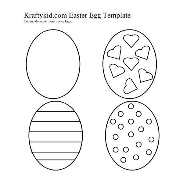 Fun Easter Egg Templates for DTP Projects Available from Various