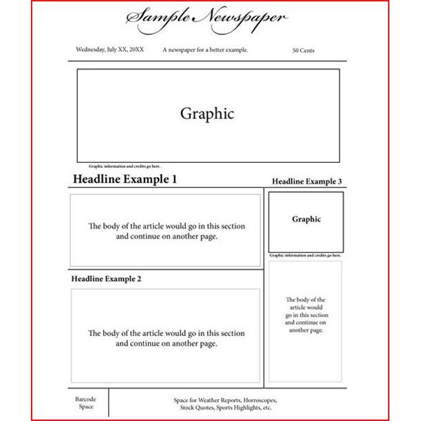 Newspaper Layout Templates Excellent Sources to Help You Design - newspaper headline template