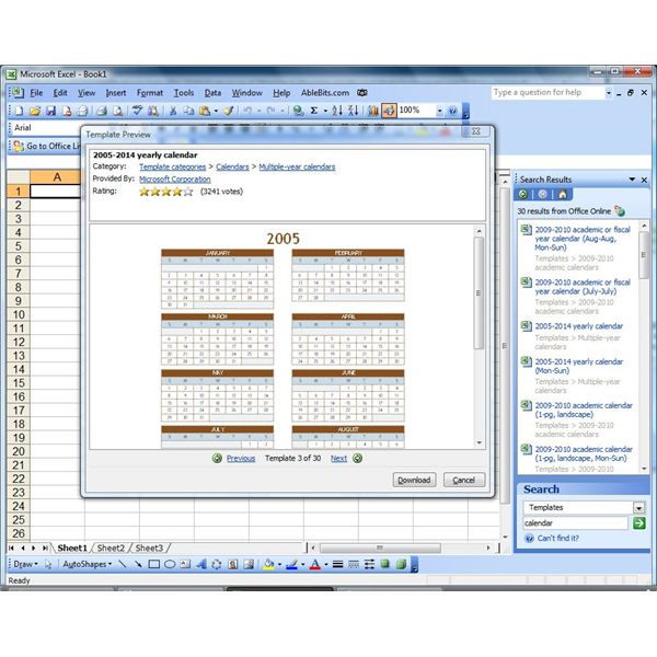 Create a Calendar in Microsoft Excel or Insert a Reference Calendar