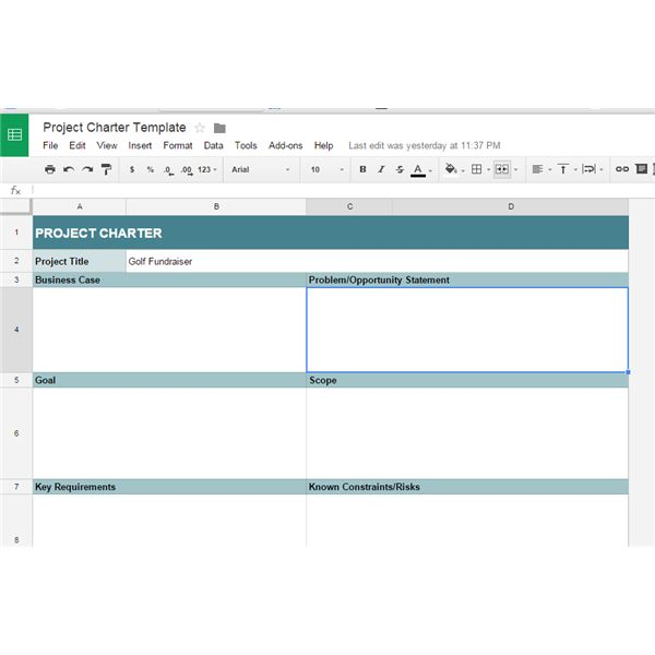 10 Great Google Docs Project Management Templates - project charter template