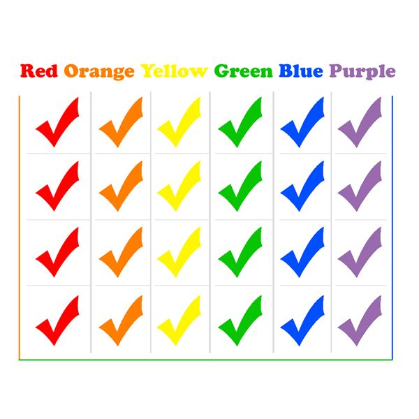 Color Word Flash Cards for Teaching Young Children the Names of Colors