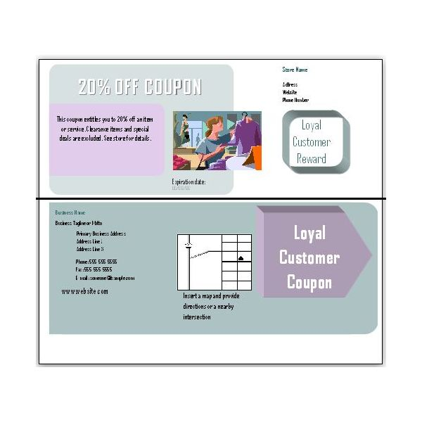 Free Blank Coupon Templates for Download in Microsoft Publisher