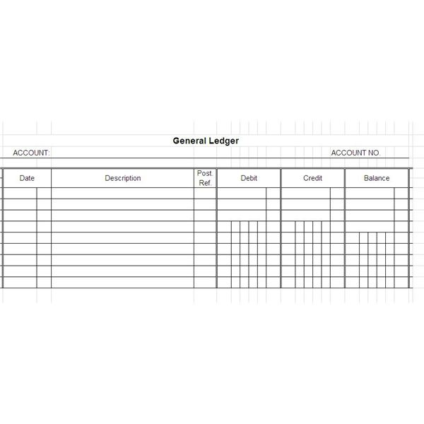 Free General Ledger Templates for Microsoft Excel - ledger accounts template