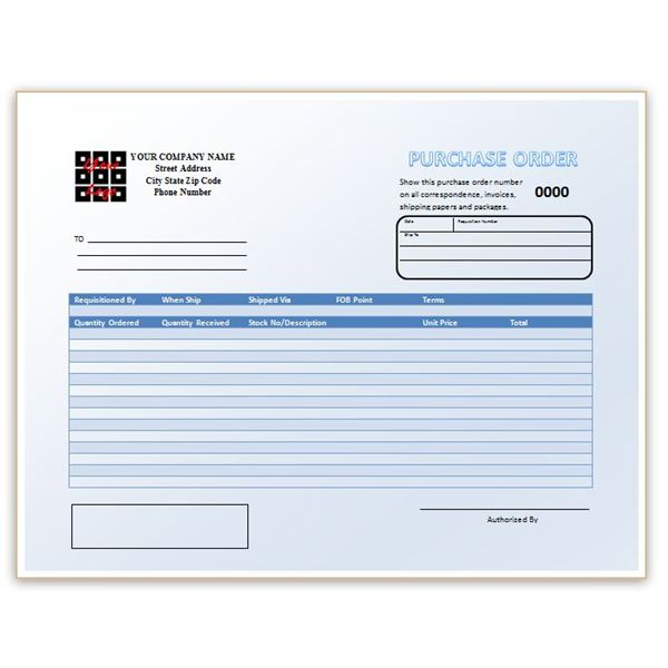 Make a Custom Purchase Order With a Template for Word - Free Downloads