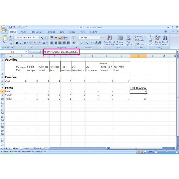 How to Use Excel in the Critical Path Method (CPM)