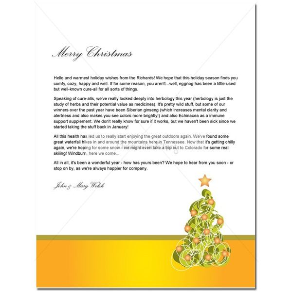 Guide to Finding a Free Christmas Letter Template - christmas letter templates