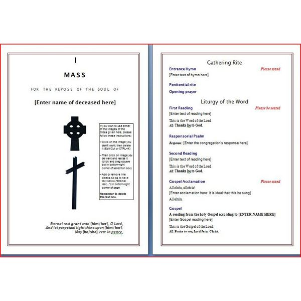 Six Resources to Find Free Funeral Program Templates to Download - download funeral program templates