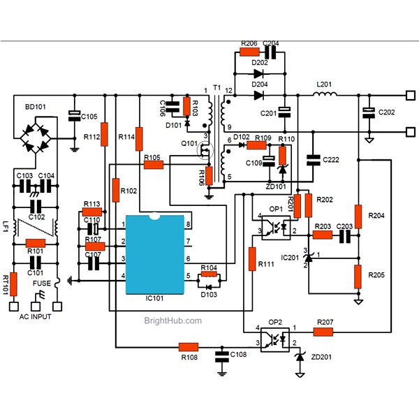 Smps Power Supply Circuit Control Cables  Wiring Diagram