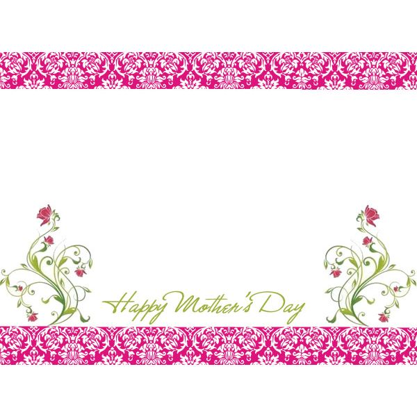 6 Free Mother\u0027s Day Borders for Cards, Scrapbooks and Other Projects