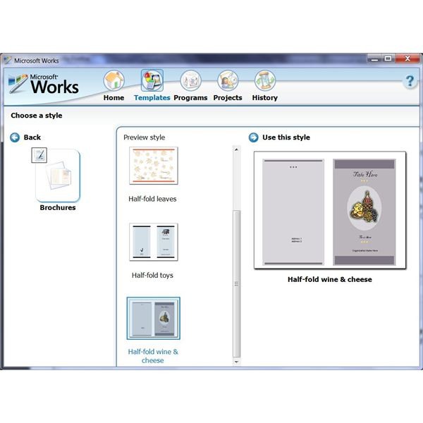 How To Use The Free Brochure Templates For Microsoft Works Word