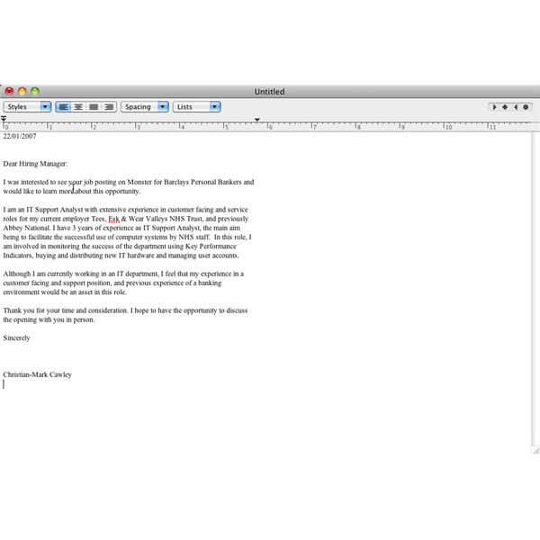 Top Cover Letter App for Mac OS X