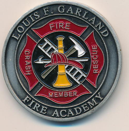 Emergency Services - Louis F Garland fire academy enamelled