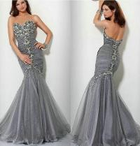 Formal Dresses - *IN STOCK* SILVER/GREY Evening Ball Party ...
