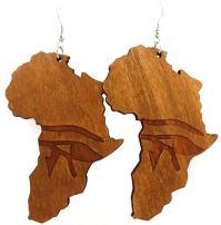 Earrings - Africa Earrings - Africa Shaped Earrings ...
