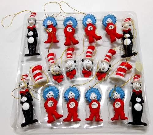 Holiday Decor - DR SEUSS \/ CHRISTMAS TREE ORNAMENTS \/ VERY RARE - dr seuss christmas decorations