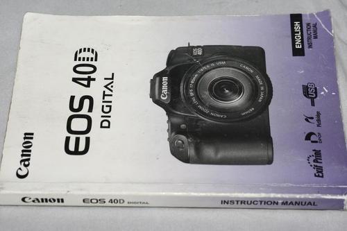 canon 40d instruction manual