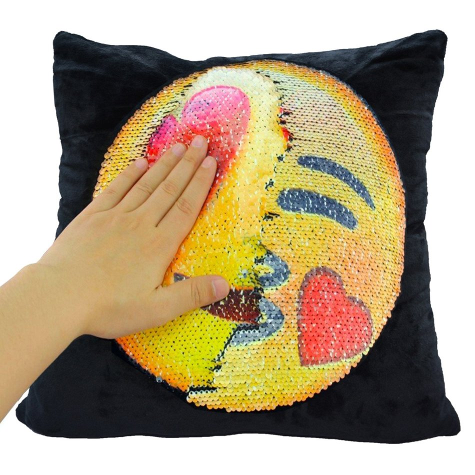 Cushions Emoji Pillow Changing Face Mermaid Magical