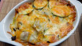 飲食自煮|馬鈴薯櫛瓜鴻喜菇雞肉乳酪千層派 / 紫色地瓜櫛瓜甜椒絞肉乳酪焗烤