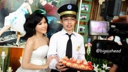 。喜喜來了。台南婚宴–懷舊鐵道風旅客出站囉!