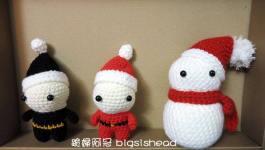 手作玩意|聖誕變裝北鼻一起賞雪人去(含雪人織圖連結)
