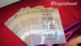 。喜喜來了。台南婚宴–懷舊鐵道風之車票明信片
