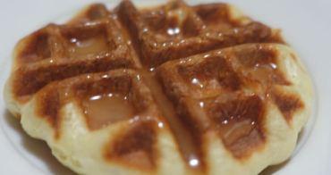 『免揉麵包』不一樣的Q彈鬆餅-簡單鬆餅麵包