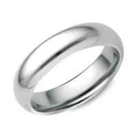 Comfort Fit Wedding Ring in 18k White Gold (5mm) | Blue Nile