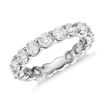 eternity band safety paveuprong and platinumgold safety wedding band Classic Diamond Eternity Ring in Platinum 3 ct tw