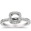 Cushion Halo Diamond Engagement Ring in Platinum (1/3 ct