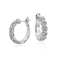 Garland Hoop Diamond Earrings in 18k White Gold (2 ct. tw ...