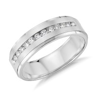 Diamond Channel-Set Wedding Ring in Platinum (1/3 ct. tw ...