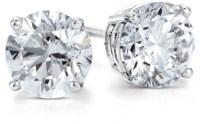 Diamond Stud Earrings in Platinum (2 ct. tw.)   Blue Nile